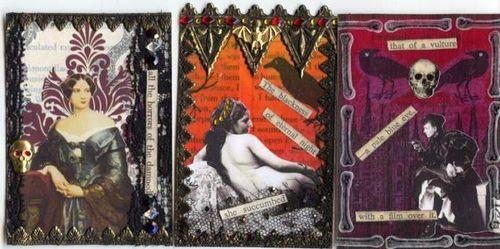 Gothic Novel ATCs 13-15