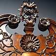 1700's Hand Carved Chest of Drawers Closeup