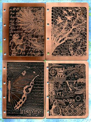 3x4 Etched Metal Book Covers