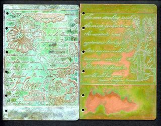 4x6 Etched Metal Book Covers
