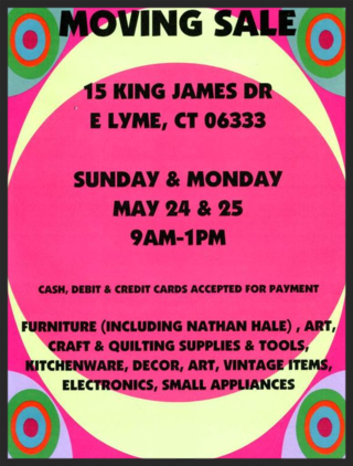 May Moving Sale Flyer