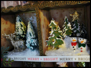 Christmas Assemblage Top Cubes Detail