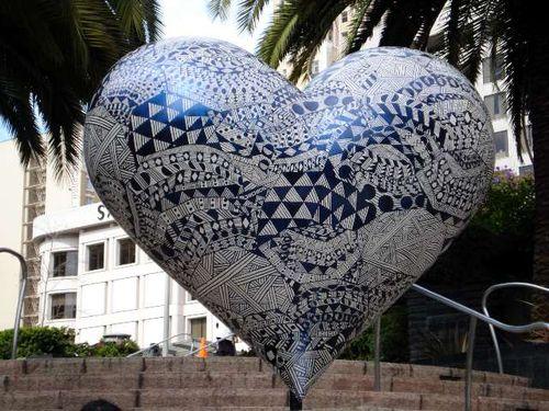 Union Square Zentangle Heart