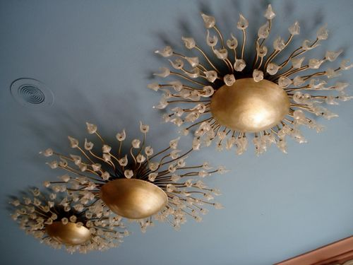 13 Light Fixtures on the Veranda Ceiling